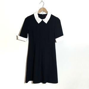 Betsey Johnson black Dress white Beaded Bib Collar